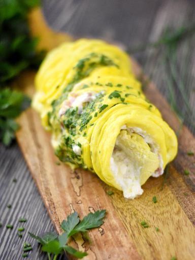 Tranches d'omelette roulée : Recette de Tranches d'omelette roulée - Marmiton