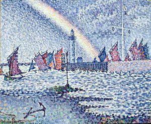 Entrance to the Port of Honfleur, 1899  Paul Signac