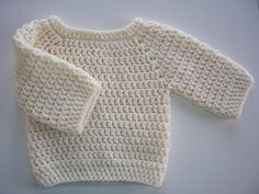 DIY Basic Crochet Baby Sweater - FREE Pattern / Tutorial