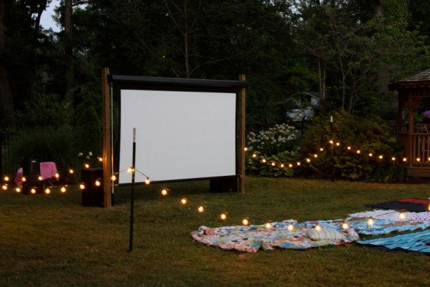 Lights Camera Action Diy Outdoor Movie Nights In 2020 Backyard Movie Nights Outdoor Movie Screen Outdoor Movie Nights