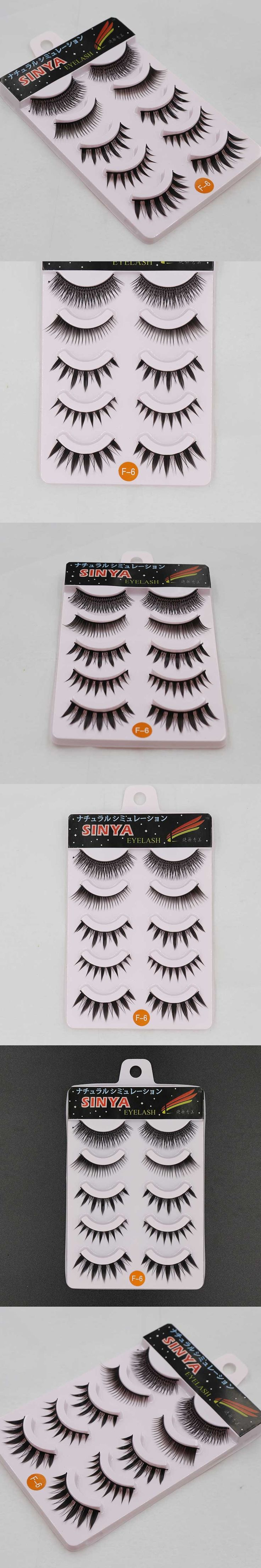 5 Pairs Crisscross Thick 3D Mink False Eyelashes Extension Eye Lashes Cilios Posticos Naturais Faux Cils Nep Wimpers Wimpern F-6
