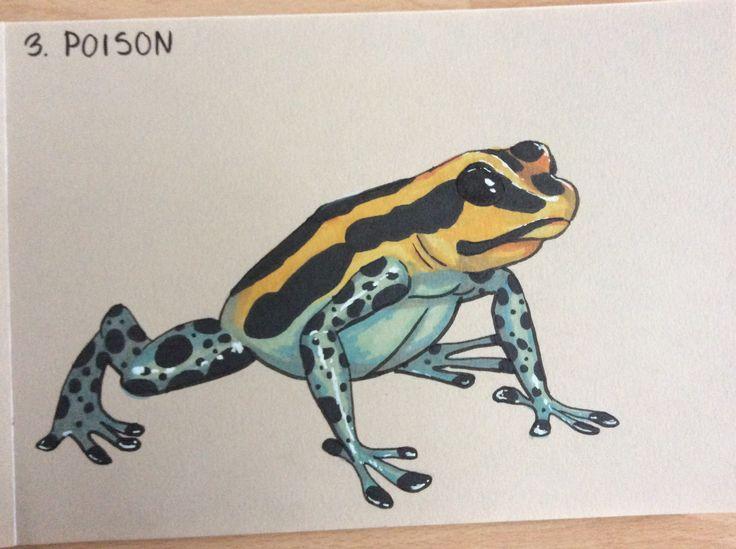 #inktober #inktober2017 #poison #poisondartfrog