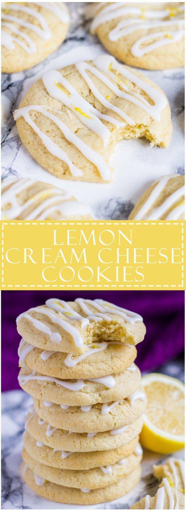Soft and Chewy Lemon Cream Cheese Cookies | Marsha's Baking Addiction