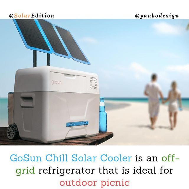Gosun Chill Solar Cooler Is An Off Grid Refrigerator That Is Ideal For Outdoor Picnic You Could Call It A Modern Age Refr Outdoor Picnics Solar Outdoor Cooler