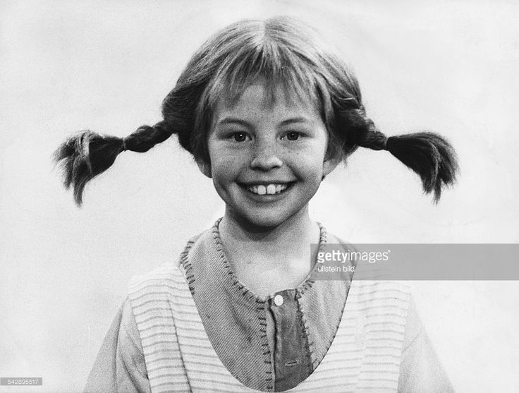 Nilsson, Inger *-Schauspielerin, S'Pippi Langstrumpf'- in ihrer Rolle als 'Pippi Langstrumpf' - undatiert