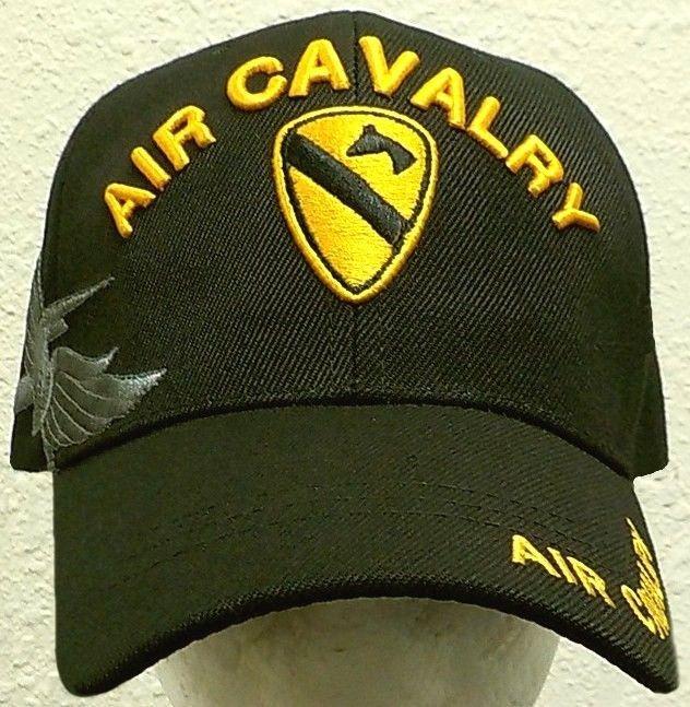 1ST TEAM U.S ARMY DIVISION HORSE AIR CAVALRY CAV WINGS UNIT INSIGNIA CAP HAT OS