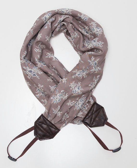 scarf camera strap by ewelinapolandastraps on Etsy