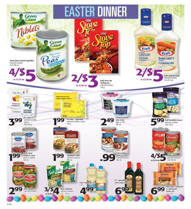 EASTER DINNER? We bring you the best of Easter deals...page 6 of 8 for this week's flyer starting March 27 until April 2, 2015 - open 24/7 on 1st Avenue and Commercial Drive in Vancouver.  604-254-1214 - follow us on facebook and twitter for more great deals.