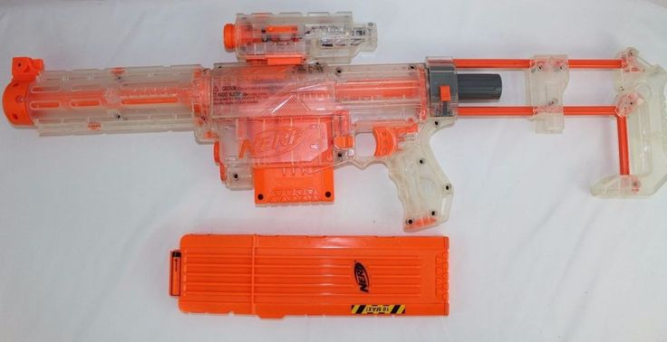Nerf N Strike Clear Recon CS-6 Attachment Light Butt Stock Extension 18 Clip #NERF