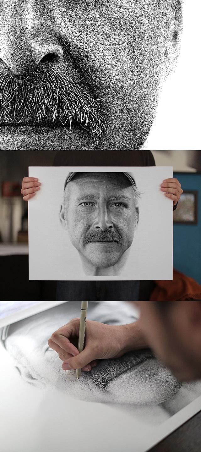 Miguel Endara, Benjaman Kyle, Ink Dots Portraits.