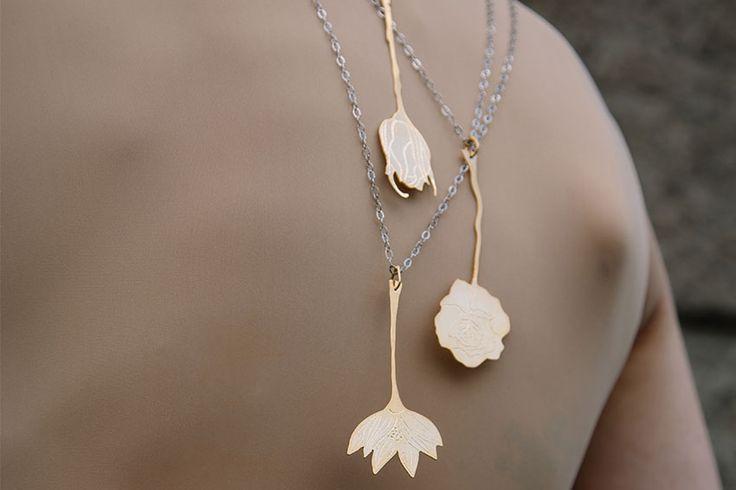 flowers necklace #rivajewels #earcuffandmore