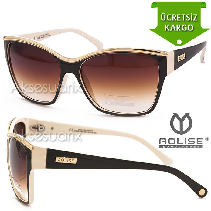 Vintage Aolise  Bayan Güneş Gözlüğü T2638 HAKİ KREM http://www.aksesuarix.com/bayan-gunes-gozlugu
