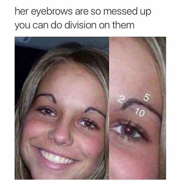 Don't do math with your eyebrows! Let me help! Order Younique's Eyebrow kit here! www.myloveablelashes.com