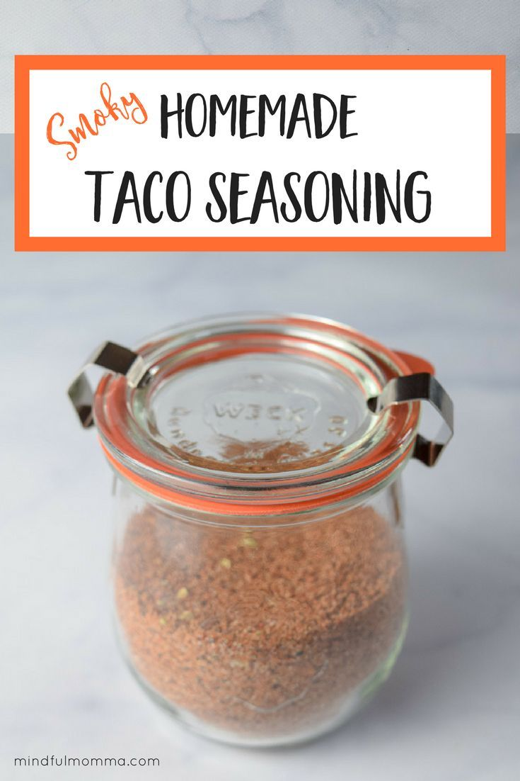 Smoky Homemade Taco Seasoning - This homemade taco seasoning is ahealthy substitute for store-bought taco seasoning packets -made with a simple blend of herbs and spices, including smoked paprika, and no added sugar or MSG.  #healthyfoods #spices #taconight #familymeals #mealplanning #pantry #homemade  via @mindfulmomma