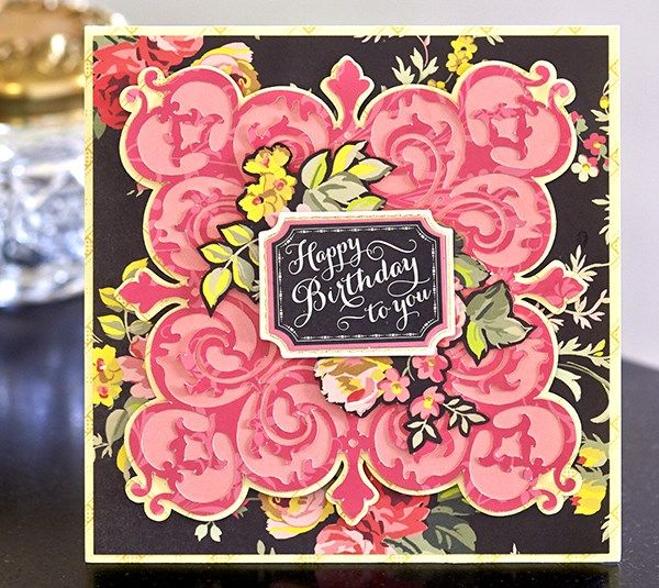 Card Making Embellishment Ideas Part - 23: Doily Birthday Card By Anna Griffin. Make It Now With The Cricut Explore  Machine In