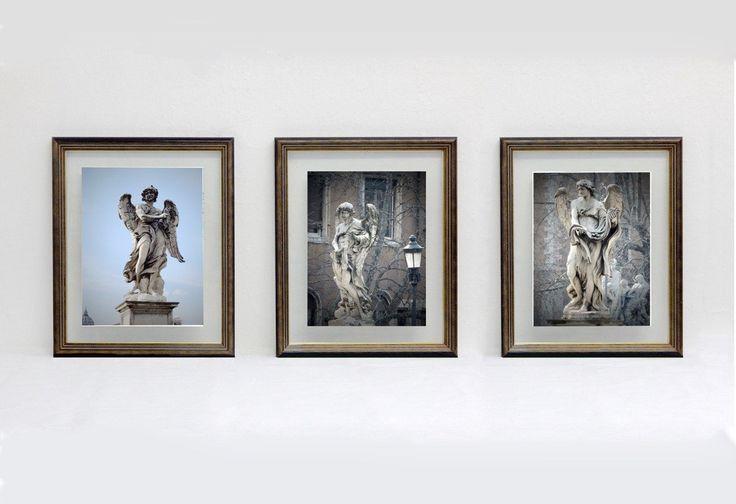 """Art print di fotografia serie: """"Gli Angeli di Roma"""" - TRE ANGELI di Ponte Sant'Angelo a Roma - foto su carta speciale di IMMAGINEeIDEA su Etsy"""