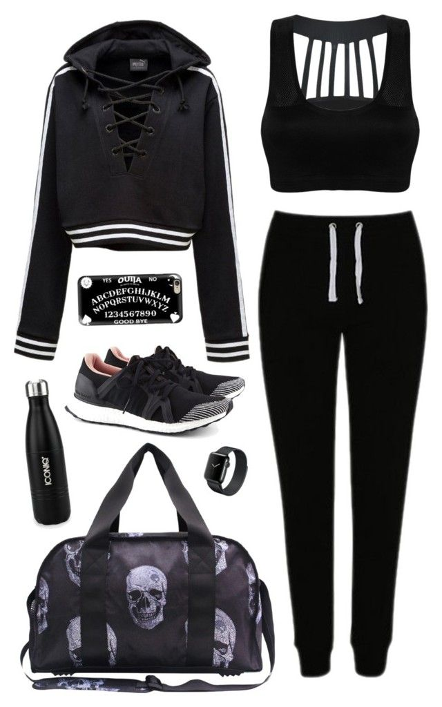 Active Lifestyle Health Goth by blackbettyblog on Polyvore featuring Puma, George, adidas, Terez and Casetify