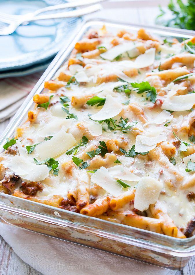 16. Freezer-Friendly Baked Ziti #freezermeals #frozenfood http://greatist.com/eat/healthy-freezer-meals