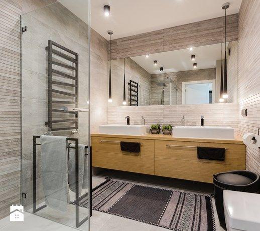 Mieszkanie dwupoziomowe w stylu skandynawskim - Łazienka, styl skandynawski - zdjęcie od ZAWICKA-ID Projektowanie wnętrz