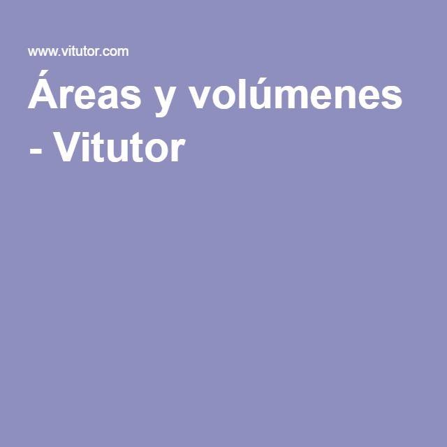 Áreas y volúmenes - Vitutor