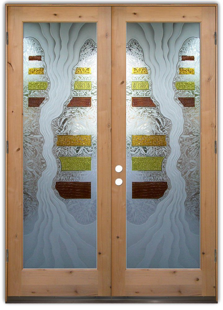 Fresh Etched Glass Entry Door