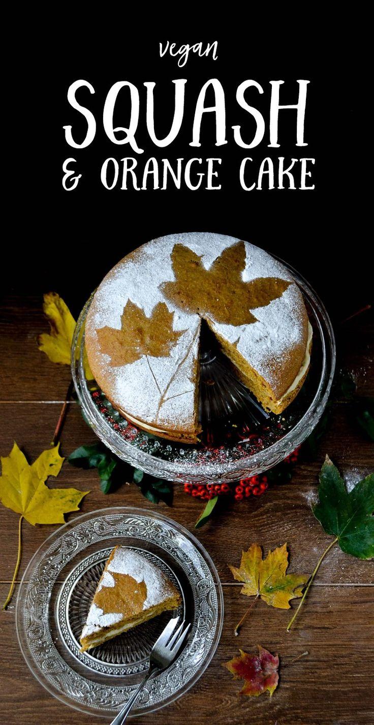 Vegan Butternut Squash & Orange Cake
