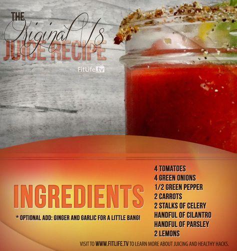 The Original V8 Juice Recipe