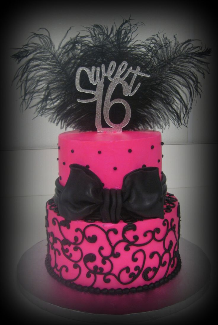 This Hot Pink & Black Sweet Sixteen Cake Offers Another