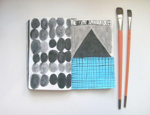 ANA MARAž, wondering. (I always like to peer into other artist's sketchbooks.)