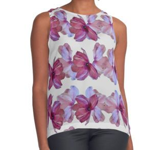 Petals Contrast Tank by gasponce on redbubble