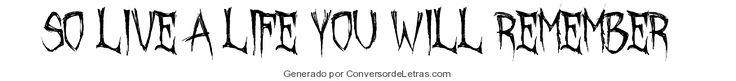 October Crow | Conversor de Letras
