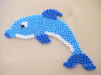 Dolphin hama beads by Lilidroopy
