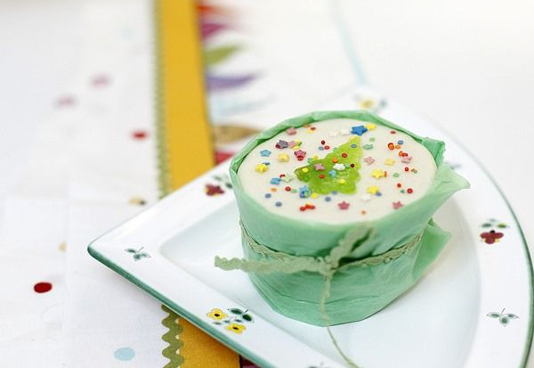 как украсить фруктовый кекс