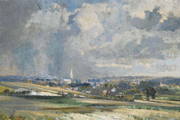 Edward Seago: the silver spire Salisbury