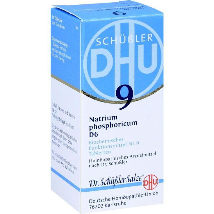 BIOCHEMIE DHU Schüssler Salz 9 Natrium phosphoricum D6 Tabletten:   Packungsinhalt: 80 St Tabletten PZN: 00274565 Hersteller:…