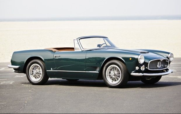 1961 Maserati 3500 GT Spider to be auctioned at Pebble Beach. Get  pre-approved with Premier Financial Services. #PebbleBeach #Maserati #Leasing