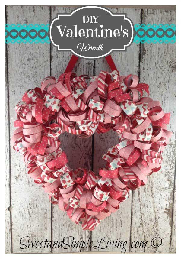 valentine wreath craft idea for valentines day - 600×857