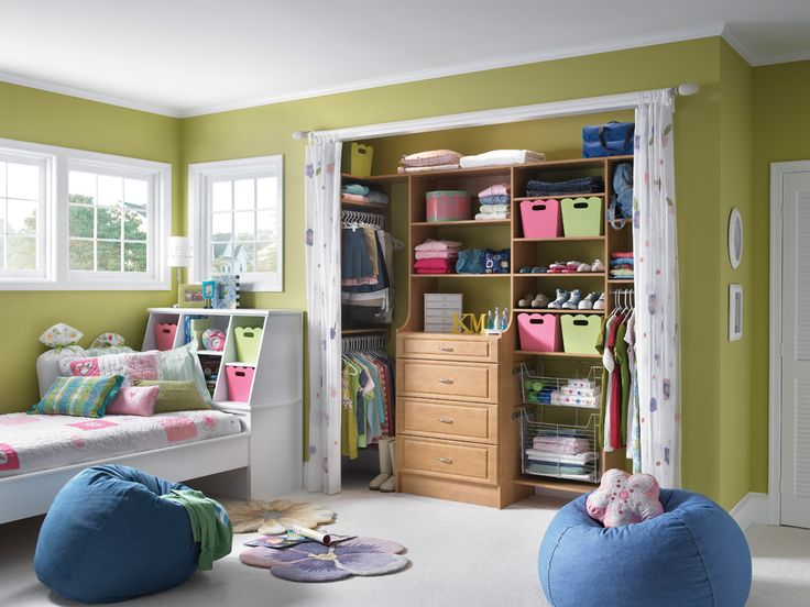 Kid Closet, Closet Space, Reach In Closet, Master Closet, Closet Ideas  Kids, Shared Closet, Closet Bed, Closet Designs, Organization Ideas
