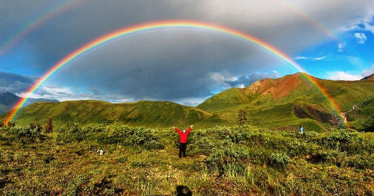 Gambar Pelangi di Alaska