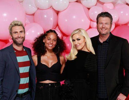 Exclusive! Check out Gwen Stefani, Adam Levine, Blake Shelton, and Alicia Keys singing the TLC hit