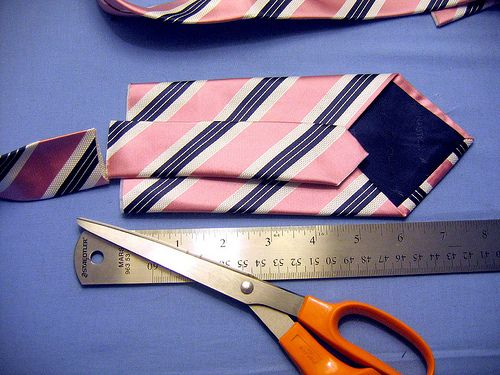 This step-by-step boy tie tutorial shows how to make a boy's tie from a man's tie.