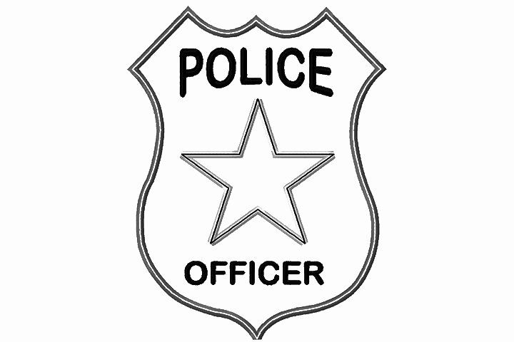24 Police Badge Coloring Page In 2020 Police Officer Badge