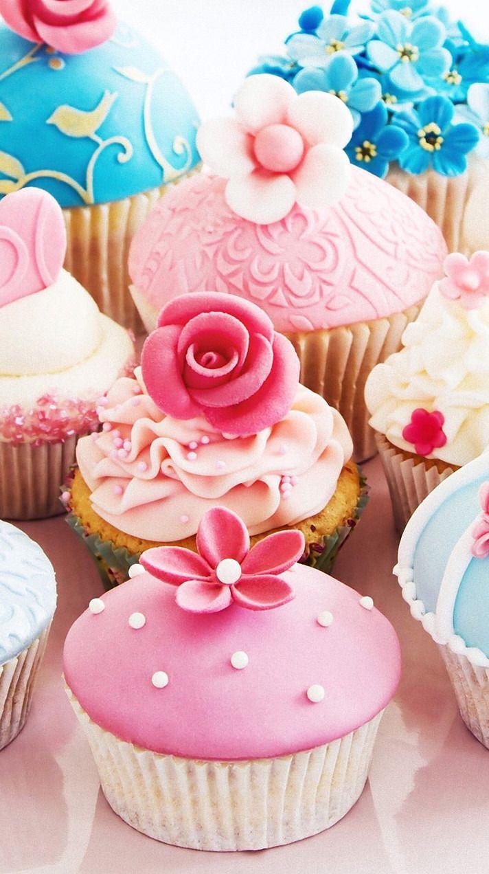 壁紙 完全無料画像検索のプリ画像 Vintage Cupcakes Purple Cupcakes Cupcake Cakes