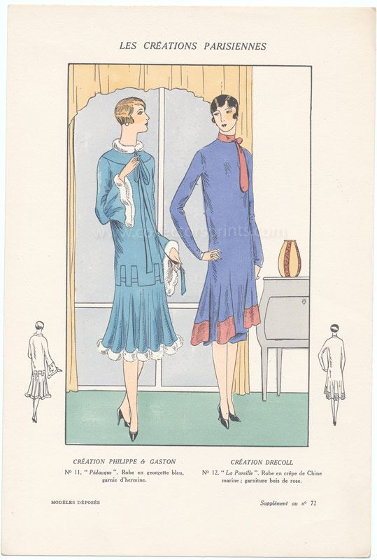 1133 best images about vintage fashion illustrations on for Pochoir technique