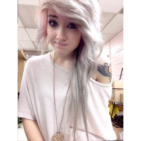 scene girl hair Tumblr ❤ liked on Polyvore featuring hair, girls, people, photos and outfits hair and nails