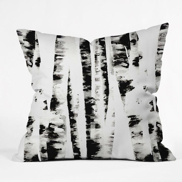 Budi Kwan Birch Throw Pillow | DENY Designs Home Accessories