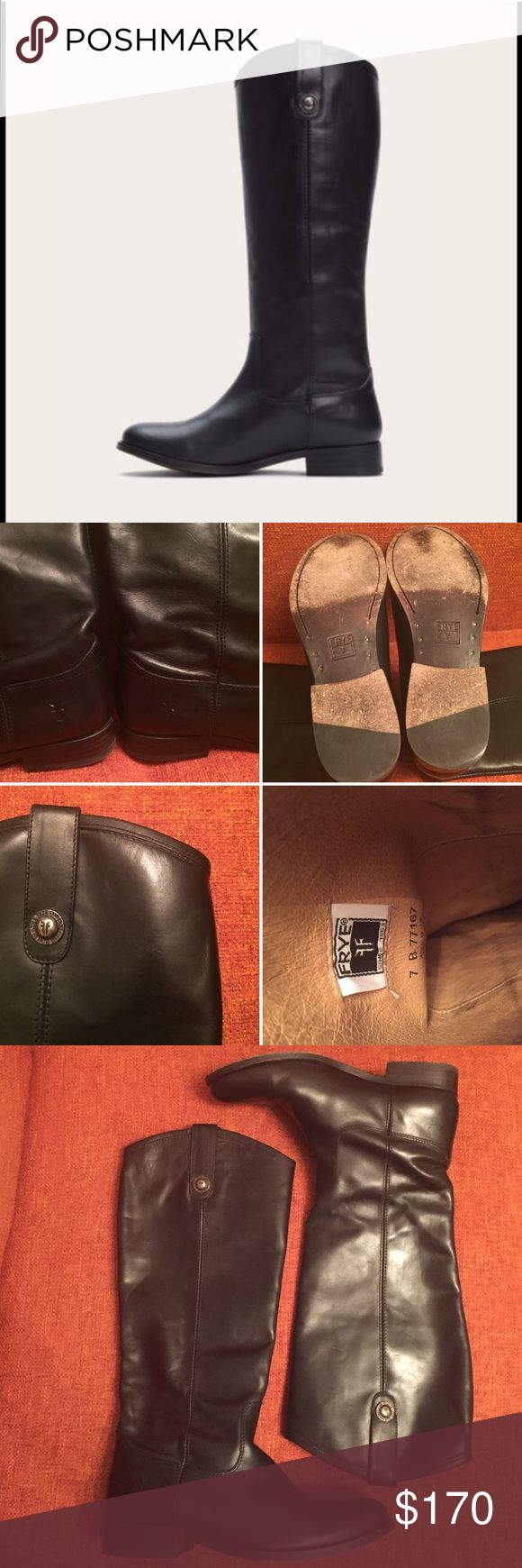 🌿SALE🌿 Frye Mellisa Button Boots Signature Melissa buttons distinguish this knee-high boot from everyone else. A wardrobe must-have, The Melissa was designed to go with your entire closet. These have been worn only a few times and are in amazing condition. Still has the smell of fresh leather. Frye Shoes Heeled Boots