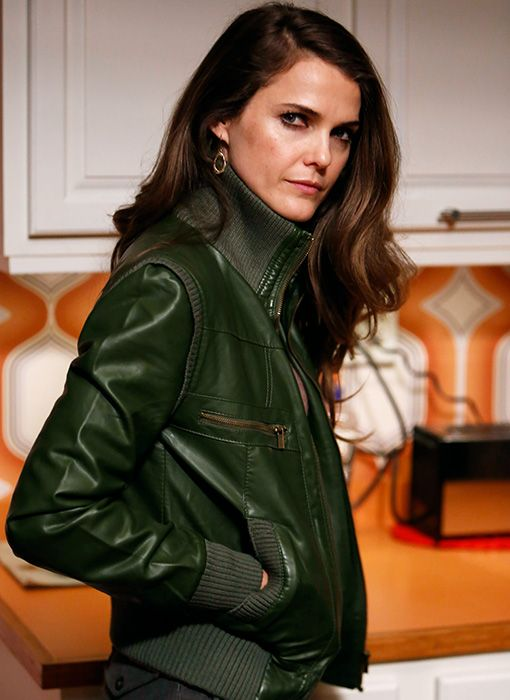 I die for this green leather jacket!