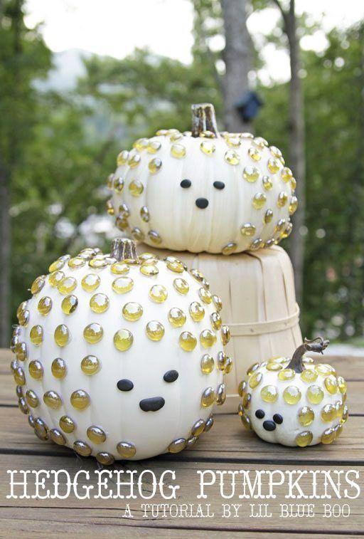 Hedgehog Pumpkins – Pumpkin Decorating Ideas   Lil Blue Boo   Bloglovin'