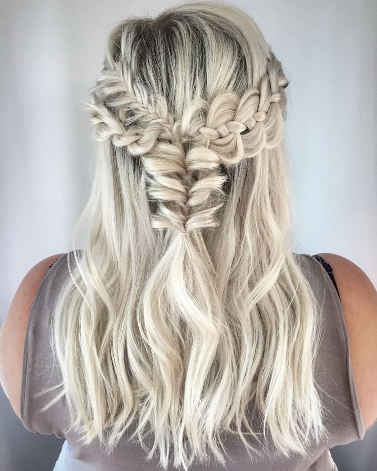 Combo braids with a Boho look.